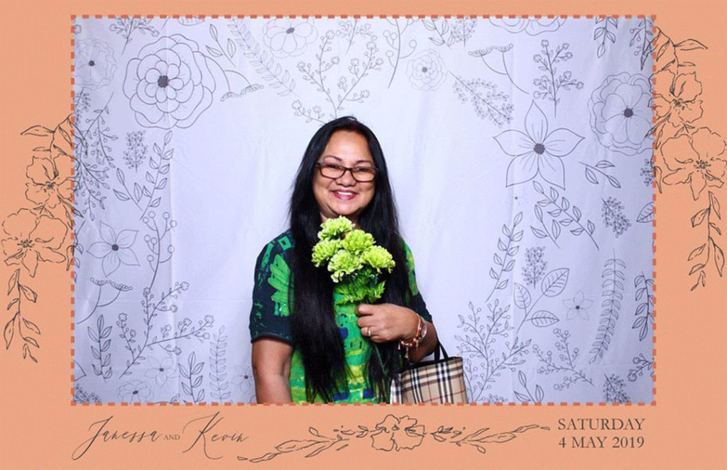 fake flowers photo booth prop