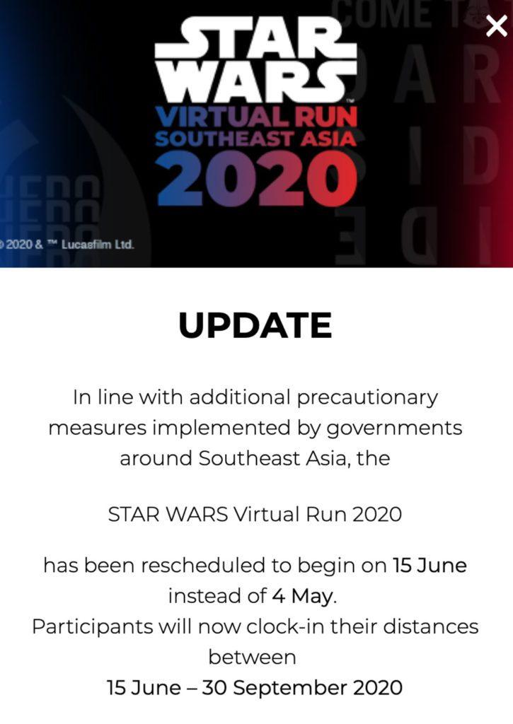 Star Wars Run Virtual Event Singapore Marathon