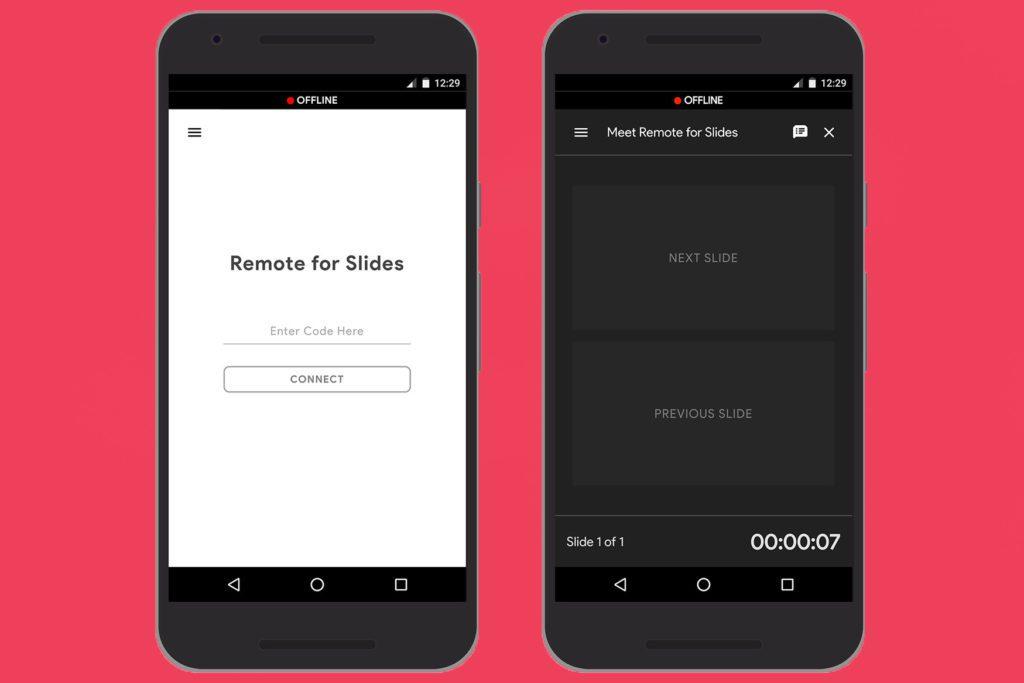 Remote for Slides user interface for Google Slides Presentation.
