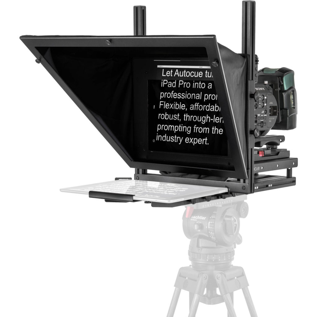 Autocue teleprompter for corporate video production