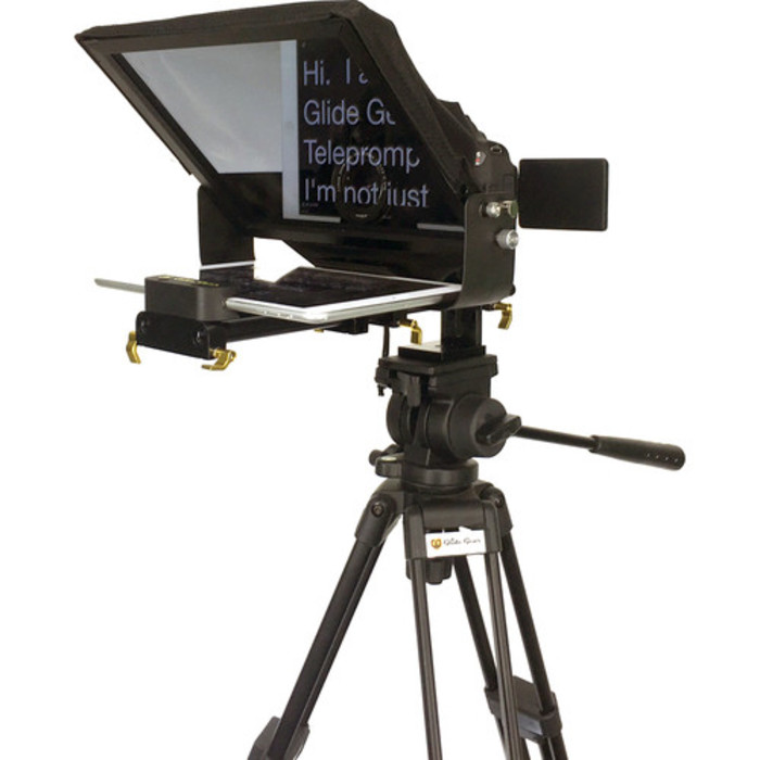 Teleprompter for corporate video production