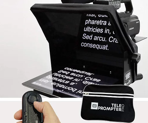 Portable teleprompter for video recording