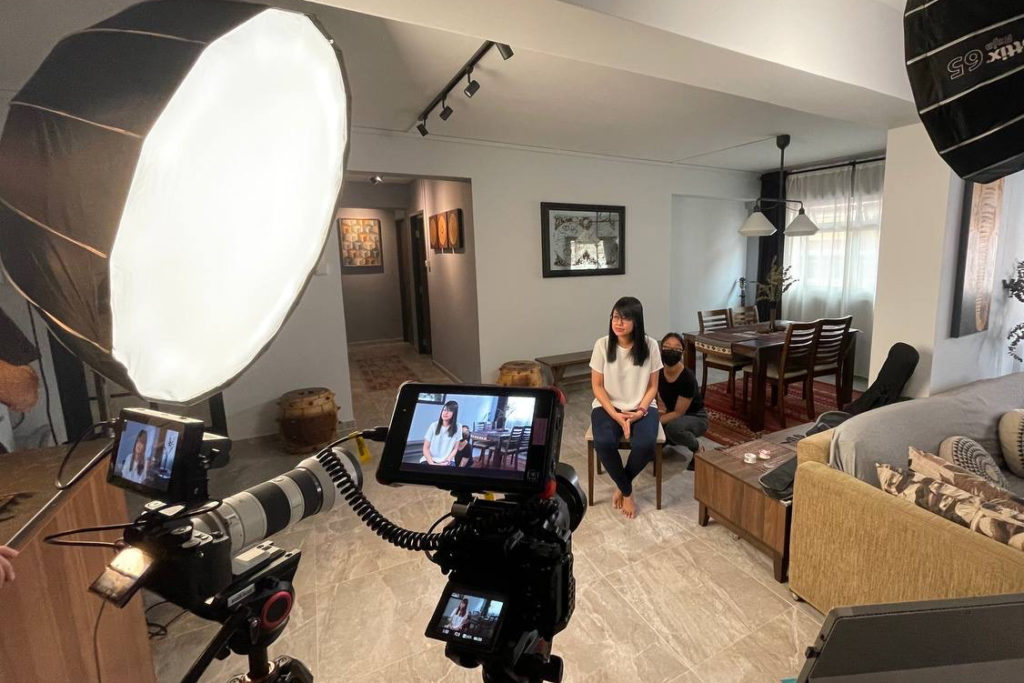 Behind the scenes of a corporate video production